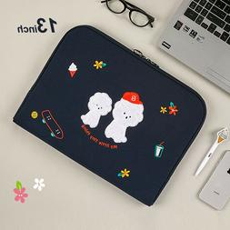 """13"""" 14"""" Bookle Bichon Laptop Notebook ipad Padded Pouch Slee"""