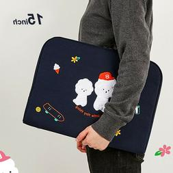 """15"""" 16"""" Bookle Bichon Laptop Notebook ipad Padded Pouch Slee"""
