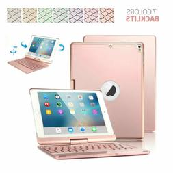 360 Rotate Backlit Keyboard Case For iPad 9.7 6/5th Gen Air