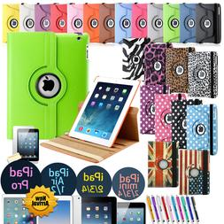360 Rotating Leather Folio Case Cover Stand For Apple iPad M
