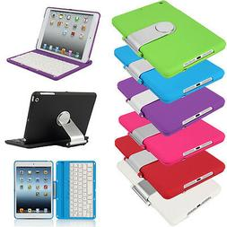 360° Swivel Rotating Bluetooth Keyboard Case Cover+Stand Fo
