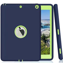 """For Apple iPad 6th Generation 9.7"""" Tough Rubber Heavy Shockp"""