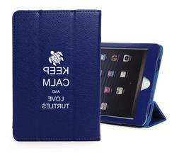 For Apple iPad Leather Smart Stand Case Cover Keep Calm and