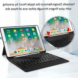 Black Case with Keyboard for iPad Air 3 10.5 2019 One Piece