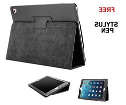 black flip leather stand case cover