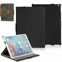 Case Cover For iPad Pro 12.9  Black Protector PU Leather Exe