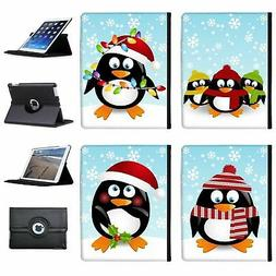christmas holiday season penguins folio cover leather