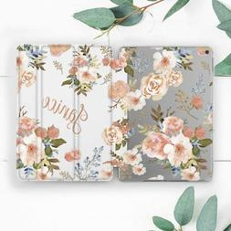Cute Girl Personalized Floral Case For iPad Pro 12.9 11 10.5