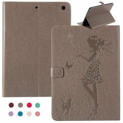 Cute Girls Flip Leather Wallet Card Holder Stand Case Cover