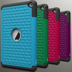 cute protective diamond bling hybrid tablet cover