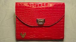 Disney iPad/Tablet Case Faux Alligator Purse Style Red