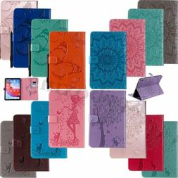 Embossed Smart Flip Leather Stand Case Cover For iPad 4 5th