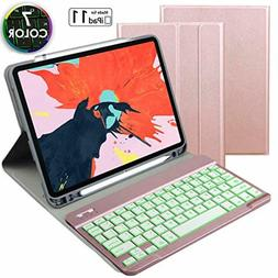 Eoso Keyboard case for Apple iPad Pro 11 2018 with 7 Color B