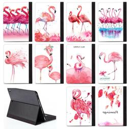 Flamingo Pink Animal PU Leather Stand Case Cover For Apple N