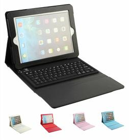 Folio Leather Case with Bluetooth Keyboard for Apple iPad 2/