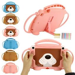 Girl Kids Silicone Cute Dog Kcikstand Portable Soft Case For