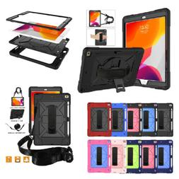 Hybrid Military Hard Armor Rubber Stand Case Cover For iPad