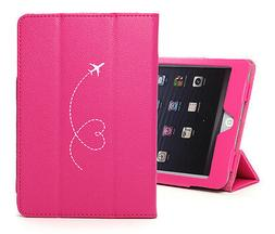 For iPad 2 3 4 5 Air Mini Pro Leather Case Cover Heart Love