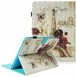 Dteck iPad 2/3/4 Case - 3D Colorful Painting Multi-Angle