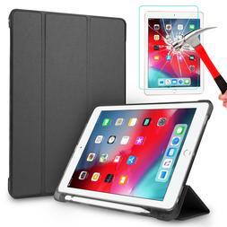 """For iPad 6th Generation 9.7"""" 2018 Smart Leather Stand Case W"""