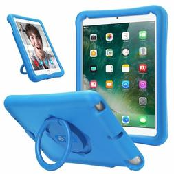 For iPad 6th Generation 9.7'' 2018 Rotating Case Kids Friend