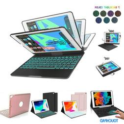 """For iPad 7th 8th Gen 10.2"""" Backlit / Touchpad / Rotate Keybo"""