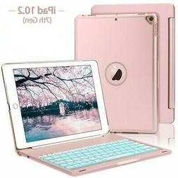 """For iPad 8th/7th Gen 10.2"""" Bluetooth Keyboard Case Stand wit"""