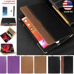 For iPad 7th Gen 10.2 2019 Wallet Case Leather Auto Sleep Wa