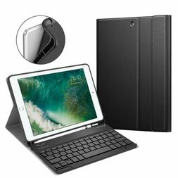 Fintie iPad 9.7 2018 Keyboard Case with Built-in Pencil Hold