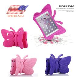 For iPad 5th 6th Generation 9.7 Kids Shockproof 3D Butterfly