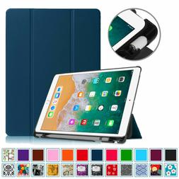 iPad 9.7 6th Gen Case with Built-in Apple Pencil Holder Smar