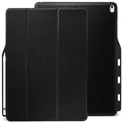 KHOMO iPad Pro 12.9 Inch Case with Pen Holder - DUAL Carbon