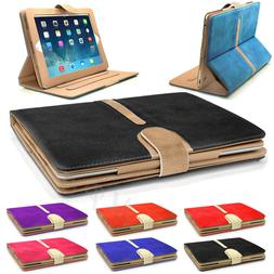 iPad Suede Leather Book Case Cover for AIR 1/2- iPad mini 4