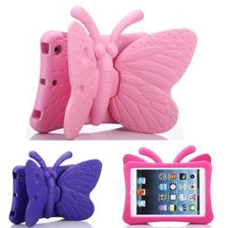 Kids Cute Butterfly EVA Case Cover Stand For iPad mini/Air /