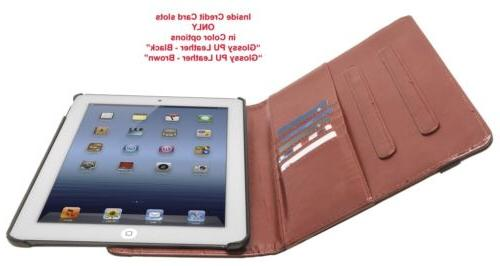 360 Rotating PU Stand Case Cover APPLE iPad 4 2