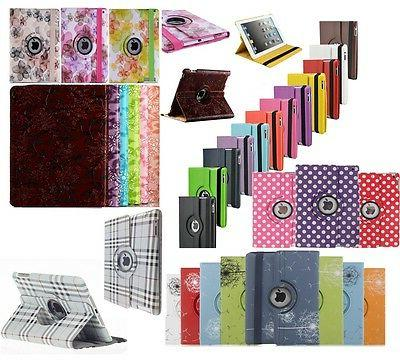 360 rotating pu leather stand case cover