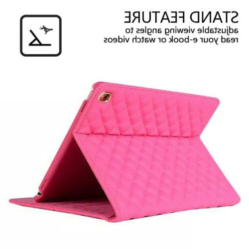 Cute 7th 2019 Smart Crown Flip Leather Stand Cover