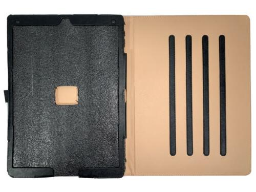*DURABLE* iPad Pro 12.9 3rd Stand Folio Cover Protective Black