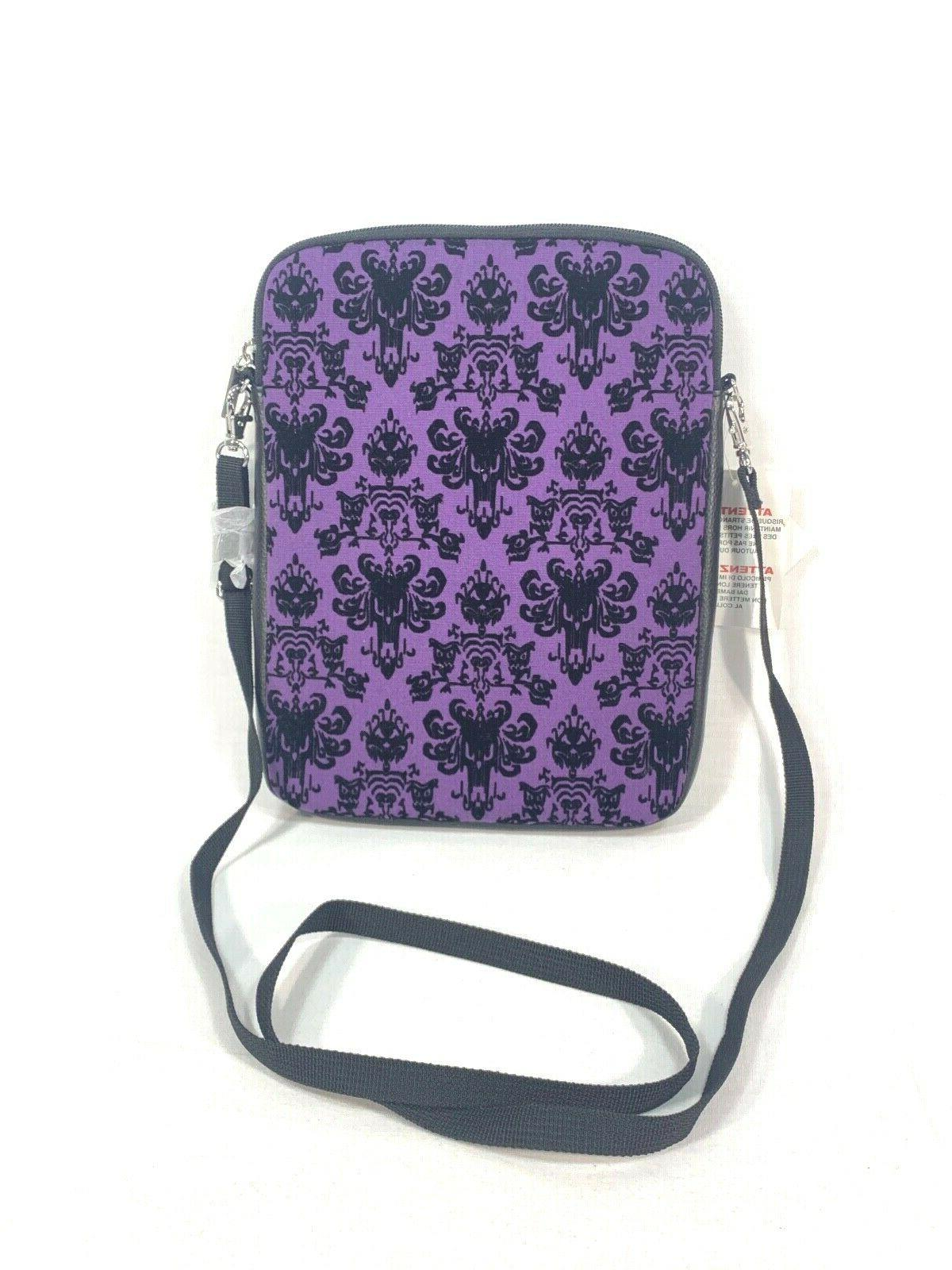 haunted mansion purple wallpaper ipad carry case