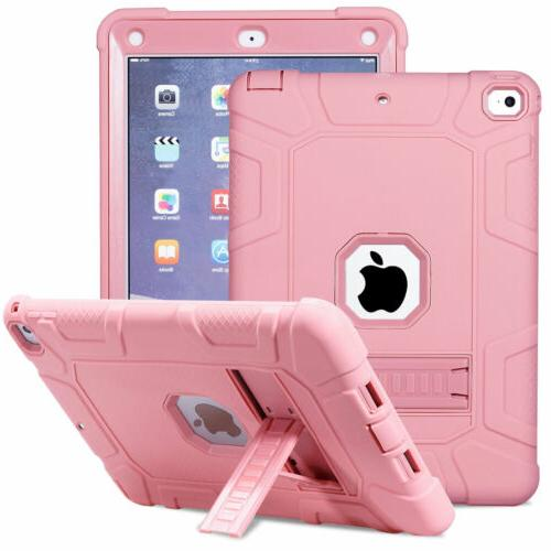 Hybrid Rugged Bumper with Stand For Apple iPad 6th 5th Generation