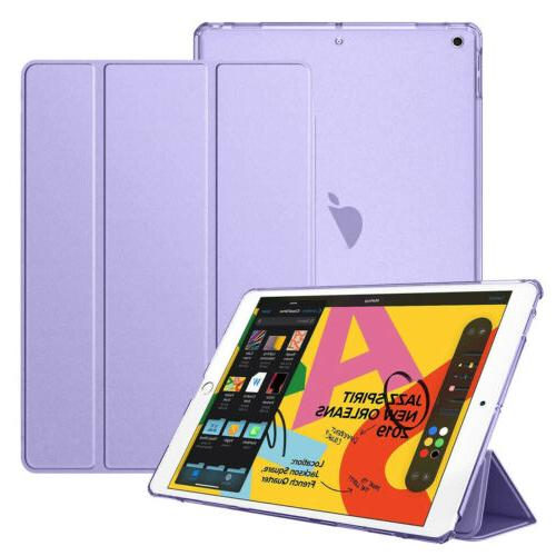 For Apple iPad 7th 10.2 Shell Leather Cover