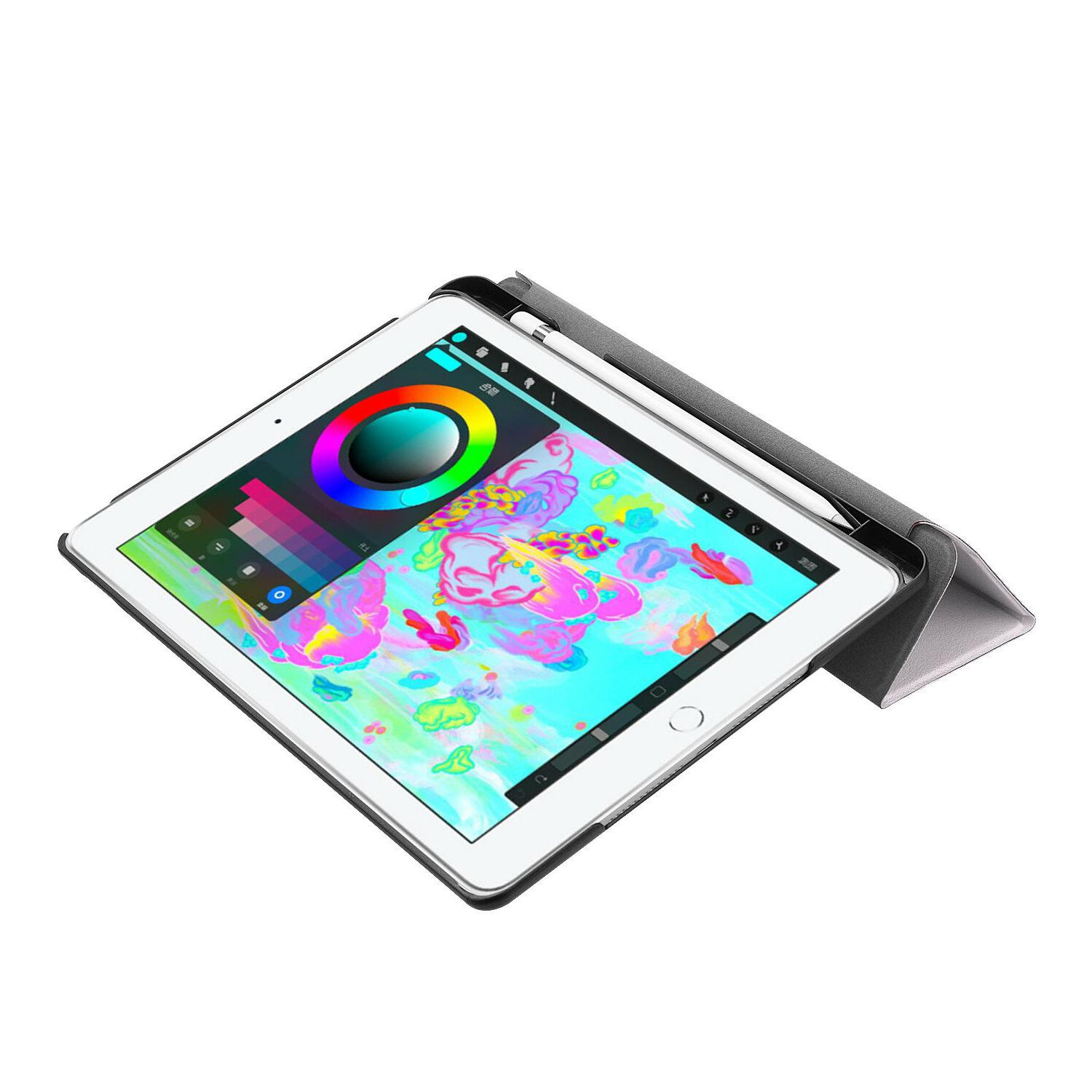 iPad 9.7 6th Case Built-in Pencil Holder Slimshell Cover