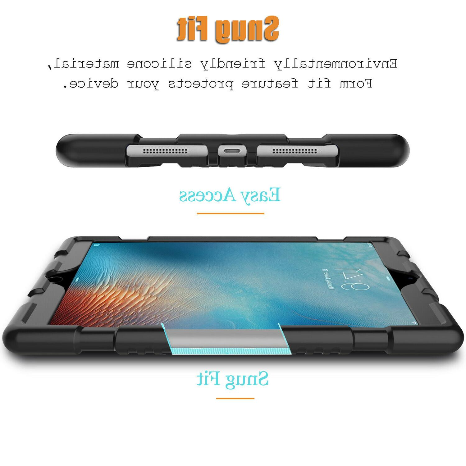 For 9.7 inch/6th Gen/Pro 2/iPad 6 Case Protective Rubber