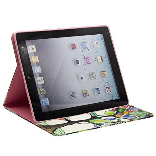 Case, PU with Card Wallet Design Shell Cases Portable for Apple iPad 4,iPad 3 &