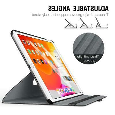 """NEW 360 Rotating Cover PU Leather Case iPad 10.2"""" Gen"""