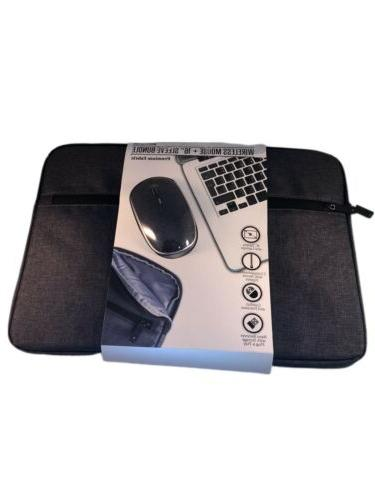 wireless mouse and 16 inch tablet sleeve