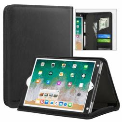 MoKo Genuine Leather Case Flip Stand Cover for iPad 9.7 2018