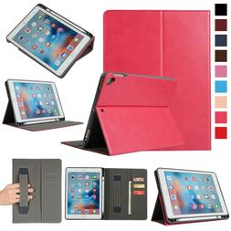 """Premium Leather Case For iPad 6th Generation 9.7"""" 2018 With"""