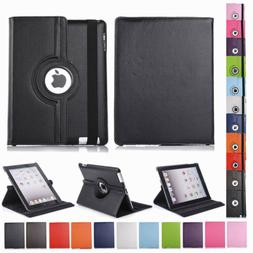 Shock Proof Smart Stand PU Leather 360 Rotating Case Cover F