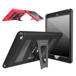 MoKo Shockproof Heavy Duty Rubber Stand Case Cover For iPad